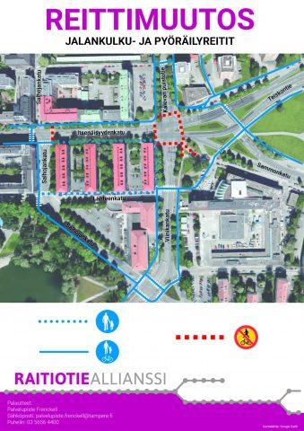 Uusia liikennejärjestelyjä Sammon aukiolle ja Itsenäisyydenkadulle