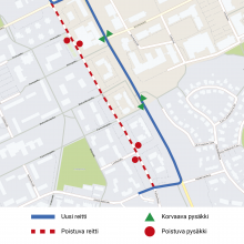 Insinöörinkadulle pysäkkimuutoksia ja liikennejärjestelyjä