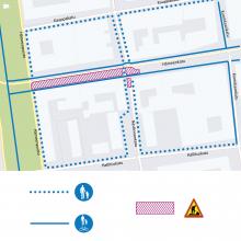 Raitiotien rakentaminen Hämeenkadulla alkaa – henkilöautoilu päättyy itäpäässä, länsipäässä sallittu lännen suuntaan