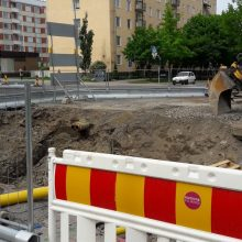 Raitiotien rakentaminen Sammonkadulla jatkuu Kaalamonaukion kohdalla
