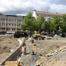 Posteljooninpuiston työt etenevät ja työmaa laajenee Kyttälänkadulle