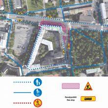 Raitiotien rakentaminen etenee Pirkankadun ja Mariankadun liittymässä uusilla liikennejärjestelyillä