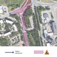 Hervantaan Insinöörinkadun pohjoispäähän uusia liikennejärjestelyitä
