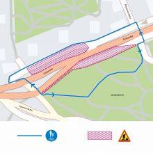 Raitiotien rakentaminen siirtää jalankulun ja pyöräilyn kiertoreitille Liisanpuistoon