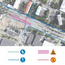 Raitiotien rakentamisesta uusia liikennejärjestelyjä Sammonkadun liittymiin