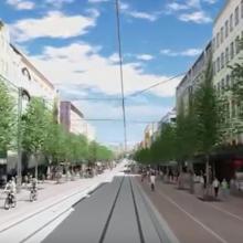 Raitiotien rakentaminen Hämeenkadulla etenee uuteen kortteliin – puita poistetaan ennen rakennustöitä