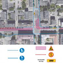 Uusia liikennejärjestelyjä Tammelan puistokadun ja Itsenäisyydenkadun risteykseen