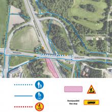 Nekalantien ja Sotilaankadun yhdistävä Kokin risteyssilta normaalikäyttöön – raitotietyöt sillalla valmistuvat