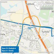 Bussilinjojen 10 ja 21 liikennöinti normaaliksi Turtolassa