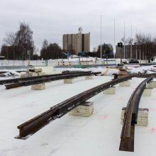 Tampereen Kalevaan ensimmäiset raitiotiekiskot 18.12.
