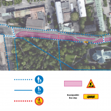 Pirkankadulle uusia liikennejärjestelyjä raitiotietöistä