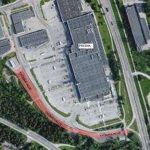 Raitiotietyöt alkavat Rieväkadun reunalla radan pohjarakenne– ja tukimuuritöillä