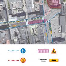 Raitiotien rakentaminen Hämeenkadun itäpäässä alkaa – liikennejärjestelyjä joukko- ja taksiliikenteelle