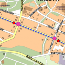 New tramway work stages and traffic arrangements on Sammonkatu