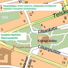 Raitiotietyöt etenevät Kalevassa – liikennejärjestelyjä ennalleen Teiskontiellä, suojatie siirtyy Sammonaukiolle