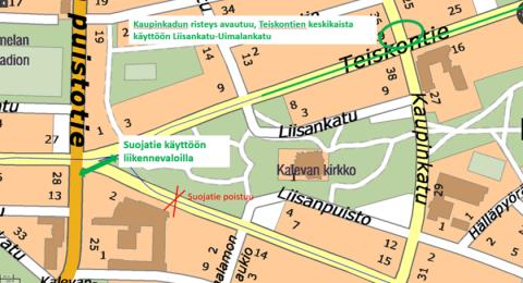 Sammonaukiolla ja Teiskontiellä palautetaan liikennejärjestelyjä ennalleen 27.4.
