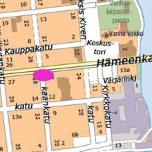 Raitiotiestä johtuvia yötöitä Hämeenkadulla 16.-17.5.