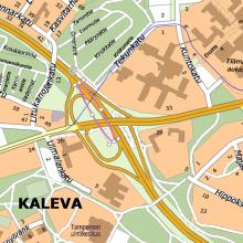 Kekkosentien kaistoja kavennetaan Hervannan suuntaan ajettaiessa 8.5. noin 100 metrin matkalta - alueella nopeusrajoitus