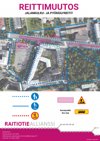 Pedestrian and cycling routes change 26.6.
