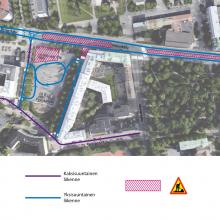 Pyynikintorille, Pirkankadulle ja Hämeenkadulle liikennejärjestelyjä raitiotietöistä
