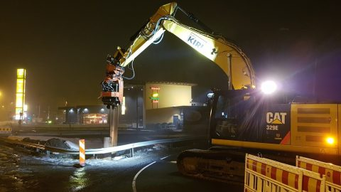Raitiotietä rakennetaan myös öisin – kun työt sitä vaativat