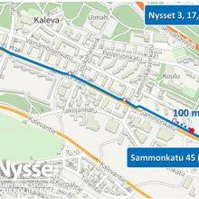 Pysäkkimuutos Sammonkadulla 24.7.