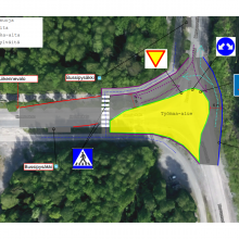 Hermiankadun ja Hervannantien risteyksen liikennejärjestelyt muuttuvat 23.7.