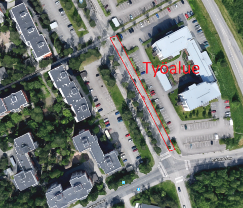 Arkkitehdinkatu-Laattapolku-välillä pysäköinti päättyy 3.9. alkaen