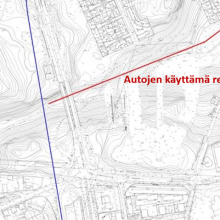 Sillan valutöiden aikana 28.-30.8. betoniautot käyttävät suljettua ulkoilureittiä