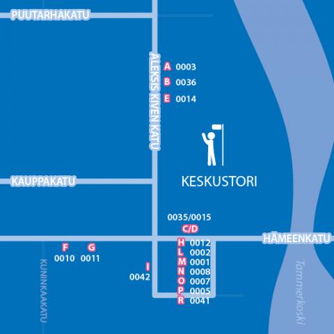 Bussipysäkkejä Keskustorilla siirretään 21.9. klo 7.00 mennessä