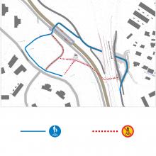 Jalankulku-ja pyöräilyreittien muutos HPehkusuonkadun alueella 15.10. alkaen