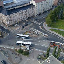 Bussipysäkkejä siirretään Hämeenkadun itäpäässä 2.10.