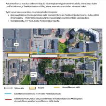 Insinöörinkadulla uusia liikennejärjestelyjä ja kulkureittejä viikon 40 lopulta alkaen