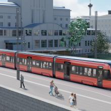 Tamperelaiset valitsivat punaisen raitiovaunun