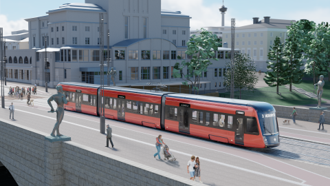 Tamperelaisten värivalinta raitiovaunulle oli punainen