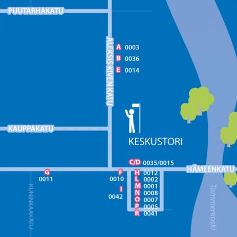 Bussipysäkkimuutos Keskustorilla 13.11.