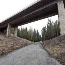 Kanjonin sillan alueen ulkoilupolku jälleen käytössä