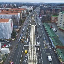 The busiest year in building the new tramway has brought tracks onto the streets of Tampere – the project is both on budget and on schedule
