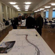 Raitiotien länsiosan katusuunnitelmia esiteltiin 28.11. Tampereen kansainvälisellä koululla