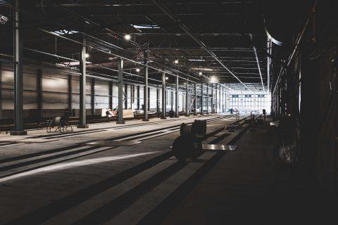 Varikon säilytyshallilla on pituutta 200 metriä
