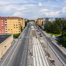 Kalevaan useita liikennejärjestelyjä raitiotietöiden etenemisestä