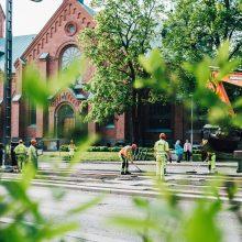 Pirkankadun asfaltointia kesäkuussa 2019, Kuva: Wille Nyyssönen