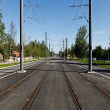 Ajojohtimien asennusta Hervannassa toukokuussa 2019, Kuva: Pasi Tiitola