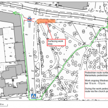 Changes to access routes on Pirkankatu due to tramway work 25 September