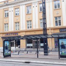 Paalutustöitä ja bussipysäkkimuutos Hämeenkadulla