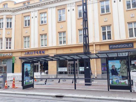 Hämeenkadun itäpään uusi bussipysäkki 23.9. alkaen