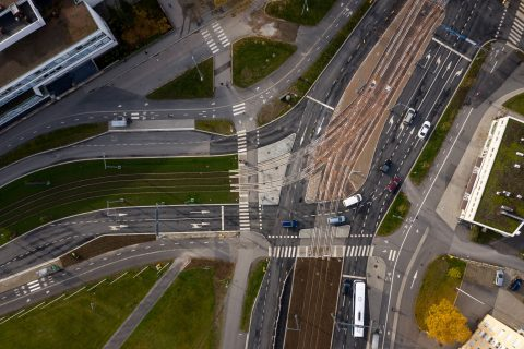 Sammonaukion vaihdealue on yksi Tampereen raitiotien osan 1 suurimpia