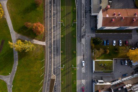 katupuiden kanssa nurmirata parantaa kaupunkiympäristön viihtyvyyttä Sammonkadulla ja Teiskontiellä