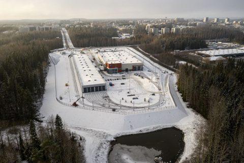 Tampereen raitiotien varikon rakentamistyöt ovat valmistuneet