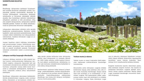 Woodhenge – Lahopuuteos raitiotiereitin ja Hervannan valtaväylän varrella